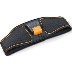 beurer ems-buikspiertrainer em 37 buikspiertrainer watercontact-elektroden (geen contactgel of reserve-elektroden noodzakelijk) (2-delig) zwart