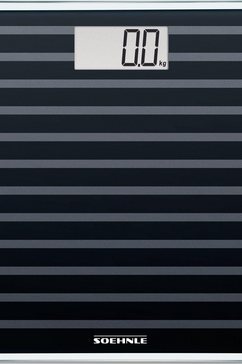 soehnle personenweegschaal sense compact 200, black edition zwart