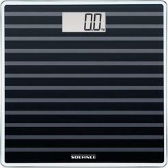 soehnle personenweegschaal style sense compact 200, black edition zwart
