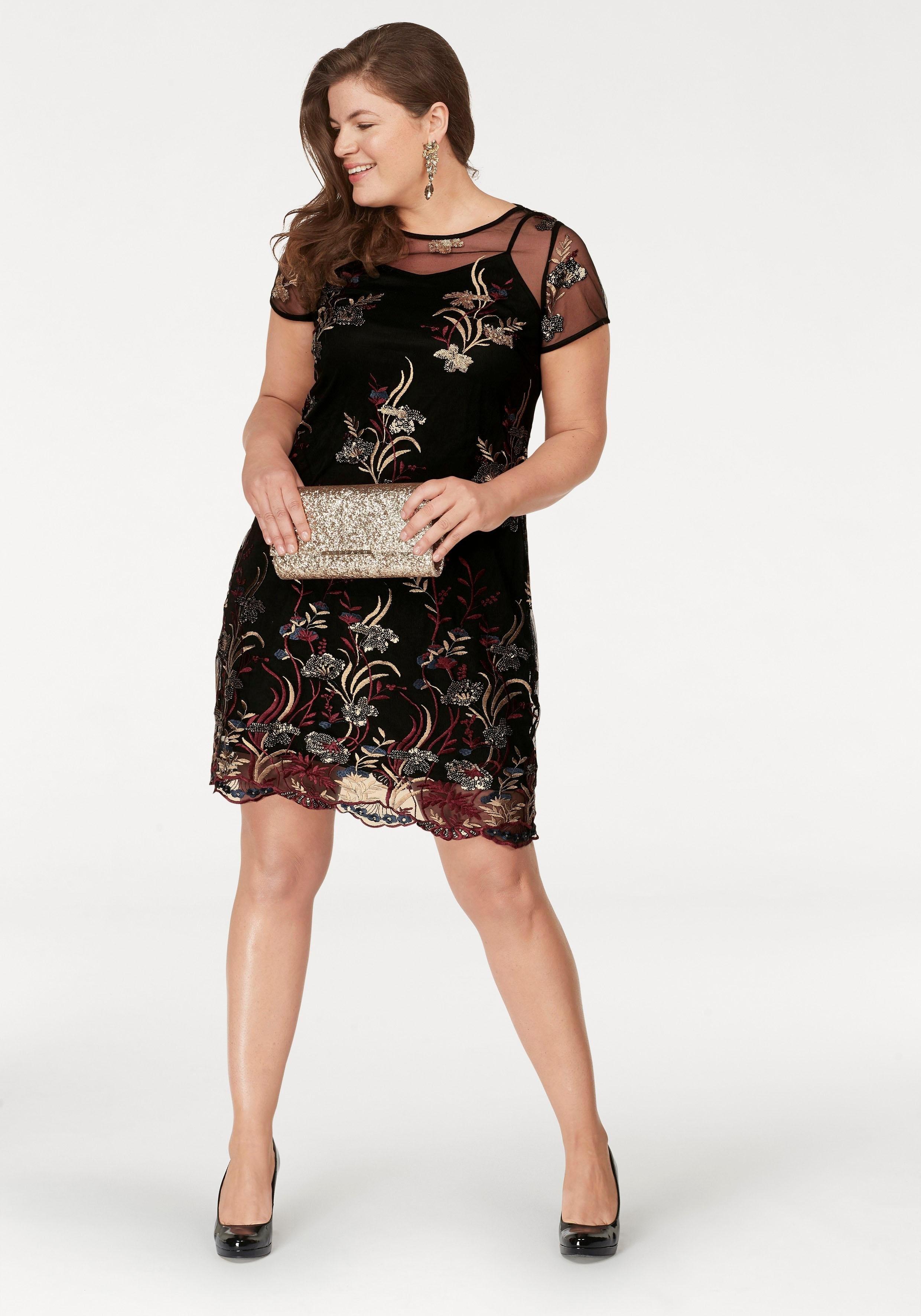 727b20d62cedb9 Paprika jurk met pailletten online bij