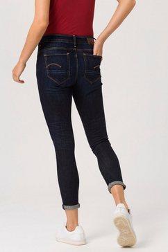 g-star raw skinny fit jeans »arc 3d mid skinny wmn« blauw