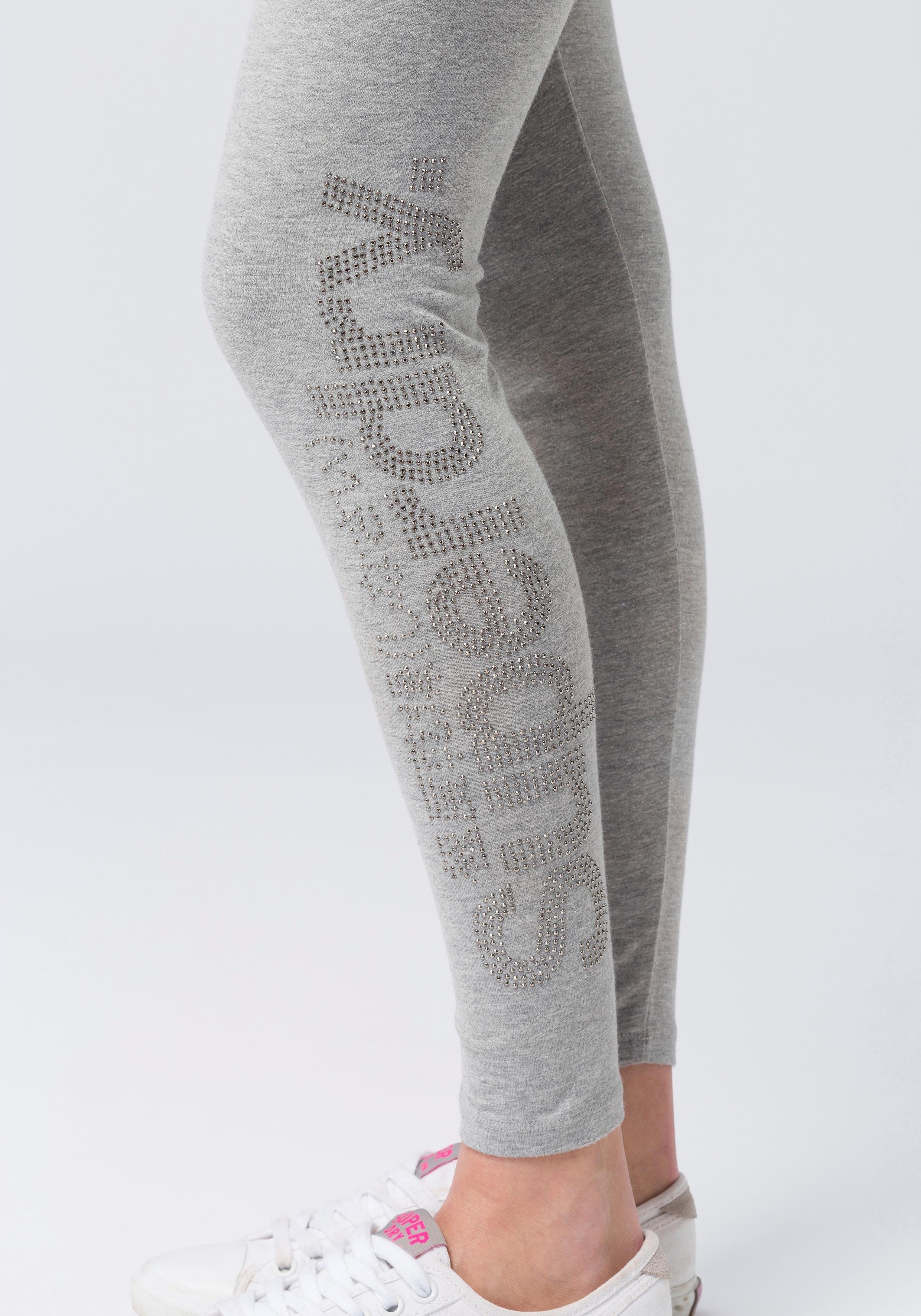 Leggingrhine Superdry Online Logo Legging Stone Shoppen BoCxerd