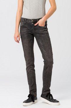 fritzi aus preussen slim fit jeans »indiana zip« zwart