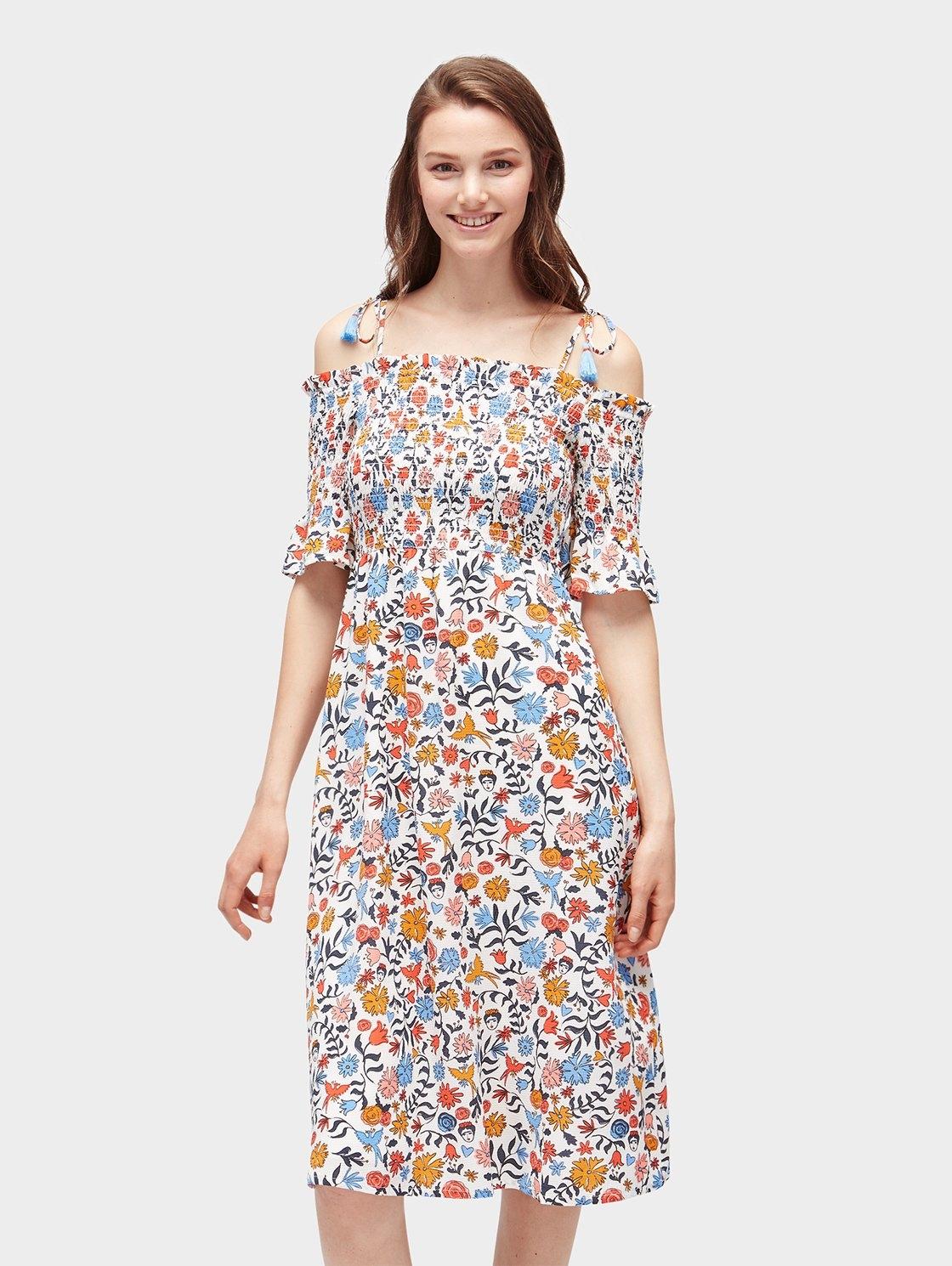 Tom Tailor Denim zomerjurk »midi-jurk met gebloemd motief« online kopen op otto.nl