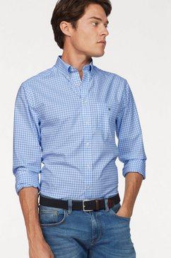 gant overhemd met lange mouwen »gingham« blauw