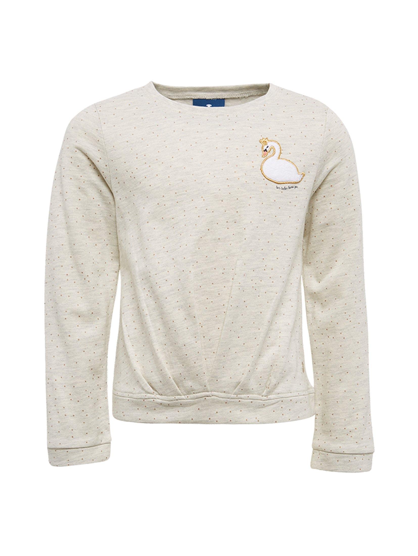 TOM TAILOR sweater »Gepunktetes Sweatshirt mit Patch« online kopen op otto.nl