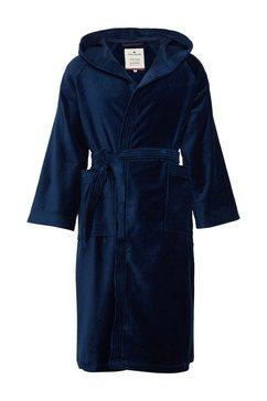 tom tailor wollen mantel »badjas met capuchon« blauw
