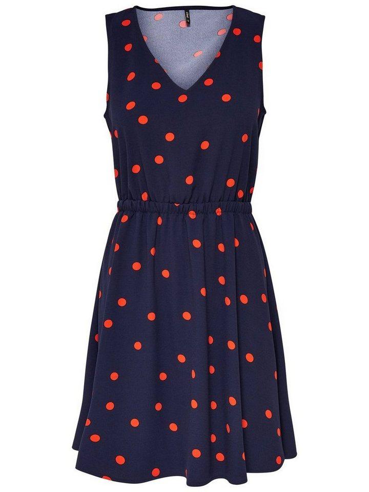 ONLY Bedrukte Mouwloze jurk blauw