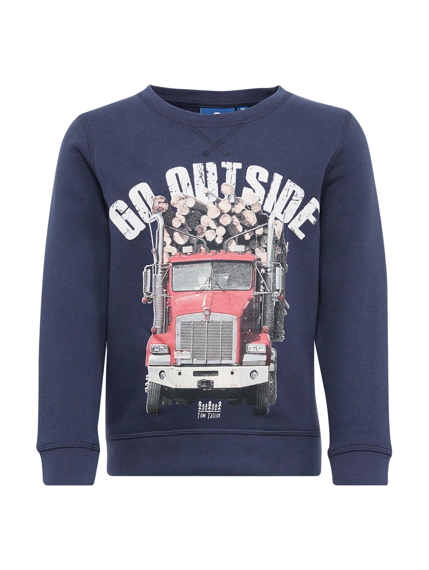 TOM TAILOR sweater »Pullover mit Foto-Print« voordelig en veilig online kopen