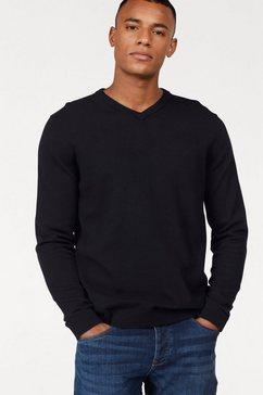 jack  jones trui met v-hals »jjebasic knit v-neck« zwart