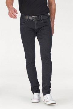 lee slim fit jeans »luke« grijs