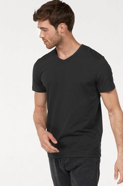 jack  jones t-shirt »jjebasic tee ss v-neck noos« zwart