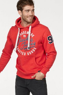 jack  jones hoodie »champs sweat hood« rood