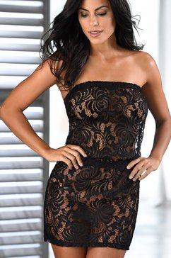 petite fleur gold kanten jurk zwart
