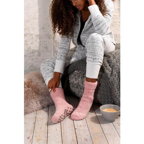 Natural wollen sokken met ABS
