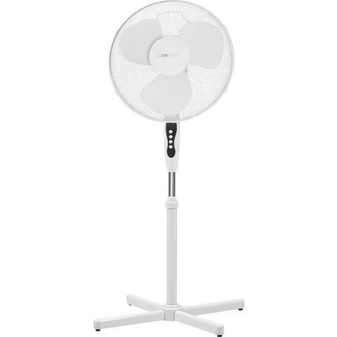 Staande ventilator oscillerend, zwenkbaar 45 W Wit (l x b x h) 12 x 52.5 x 44 mm Clatronic VL 3603 S