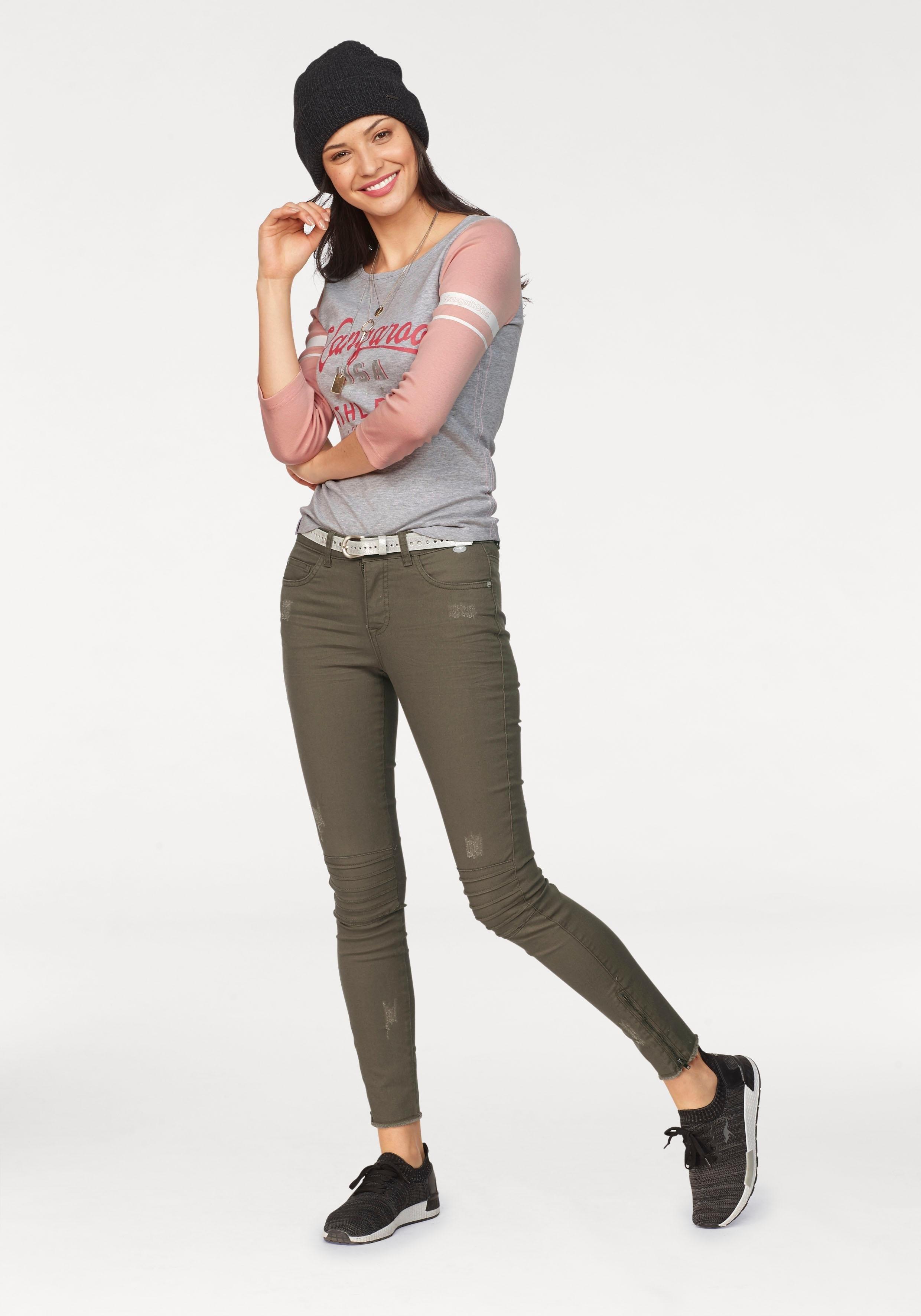 Kangaroos Online Shop Shirt Driekwartmouwen Met 2WDHYE9I