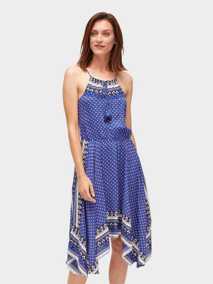 Tom Tailor zomerjurk gedessineerde jurk puntig toelopend blauw