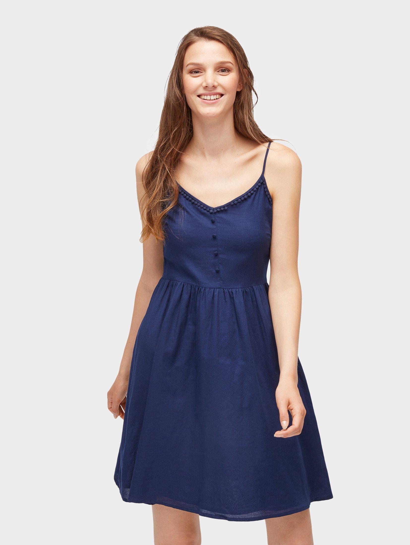 1ebd0c8e9483d1 Afbeeldingsbron  Tom Tailor Denim jurk met spaghettibandjes »mouwloze jurk«