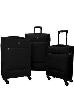 travel pal trolleyset napels (3-delig) zwart