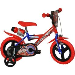 spiderman kinderfiets rot