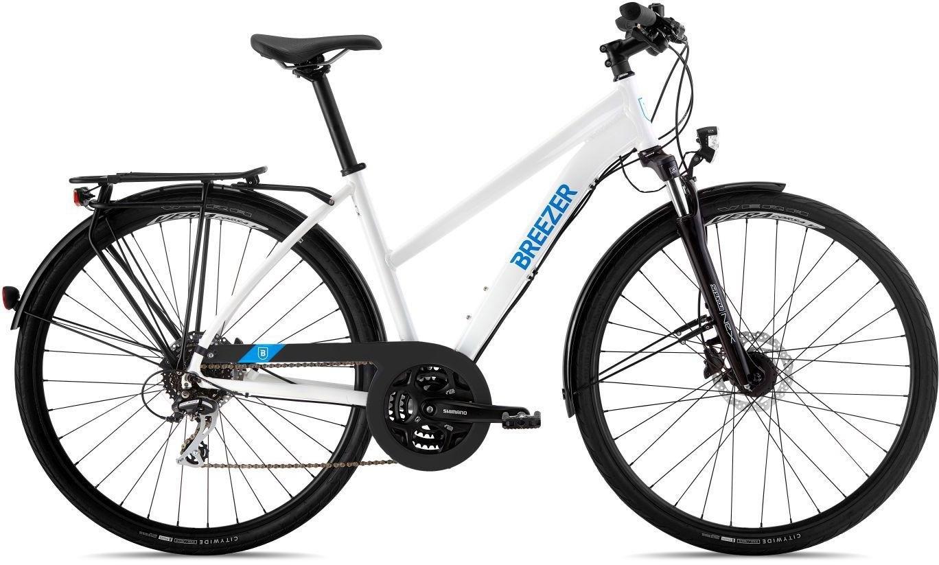Breezer dames trekkingbike, 28 inch, Shimano, 24 versnellingen, »Independence Disc Step-Through« - verschillende betaalmethodes