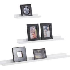 home affaire fotoplank »pics« in set van 3 wit