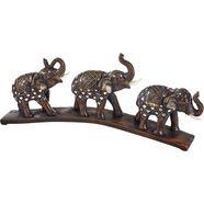 home affaire deco-figuur »oosterse olifanten op brug« bruin