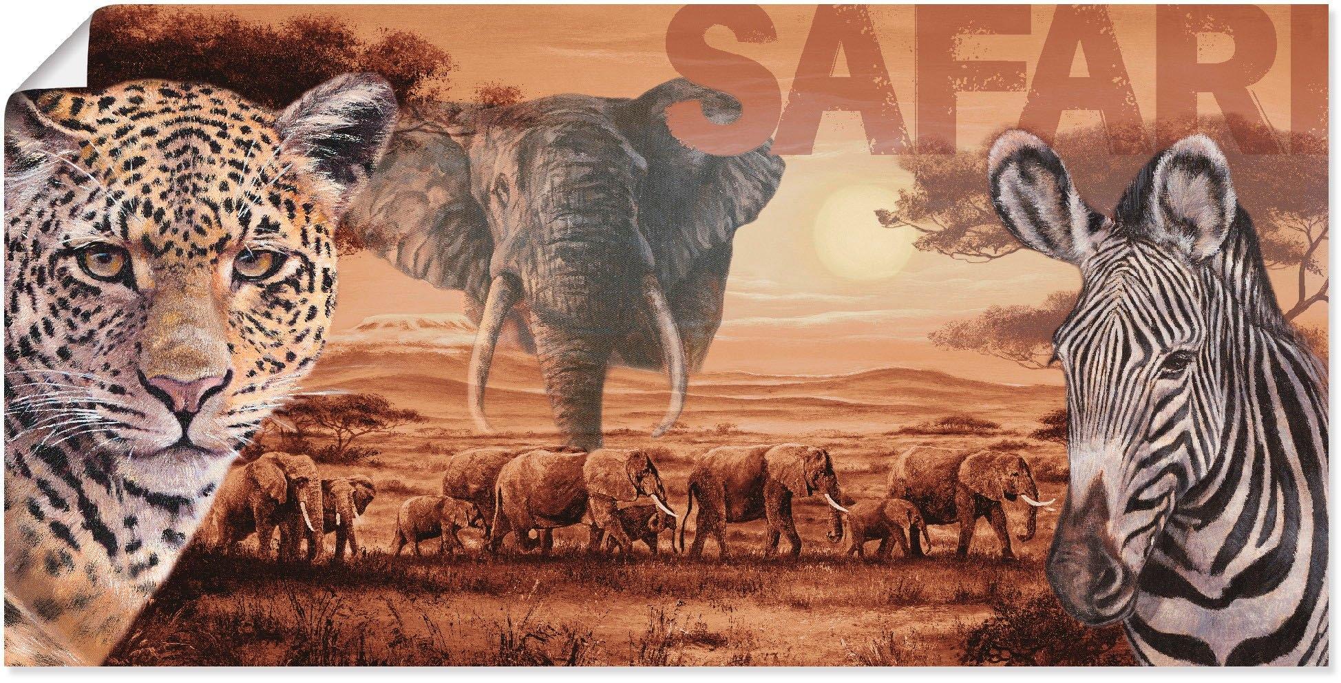 Artland artprint Safari in vele afmetingen & productsoorten - artprint van aluminium / artprint voor buiten, artprint op linnen, poster, muursticker / wandfolie ook geschikt voor de badkamer (1 stuk) online kopen op otto.nl