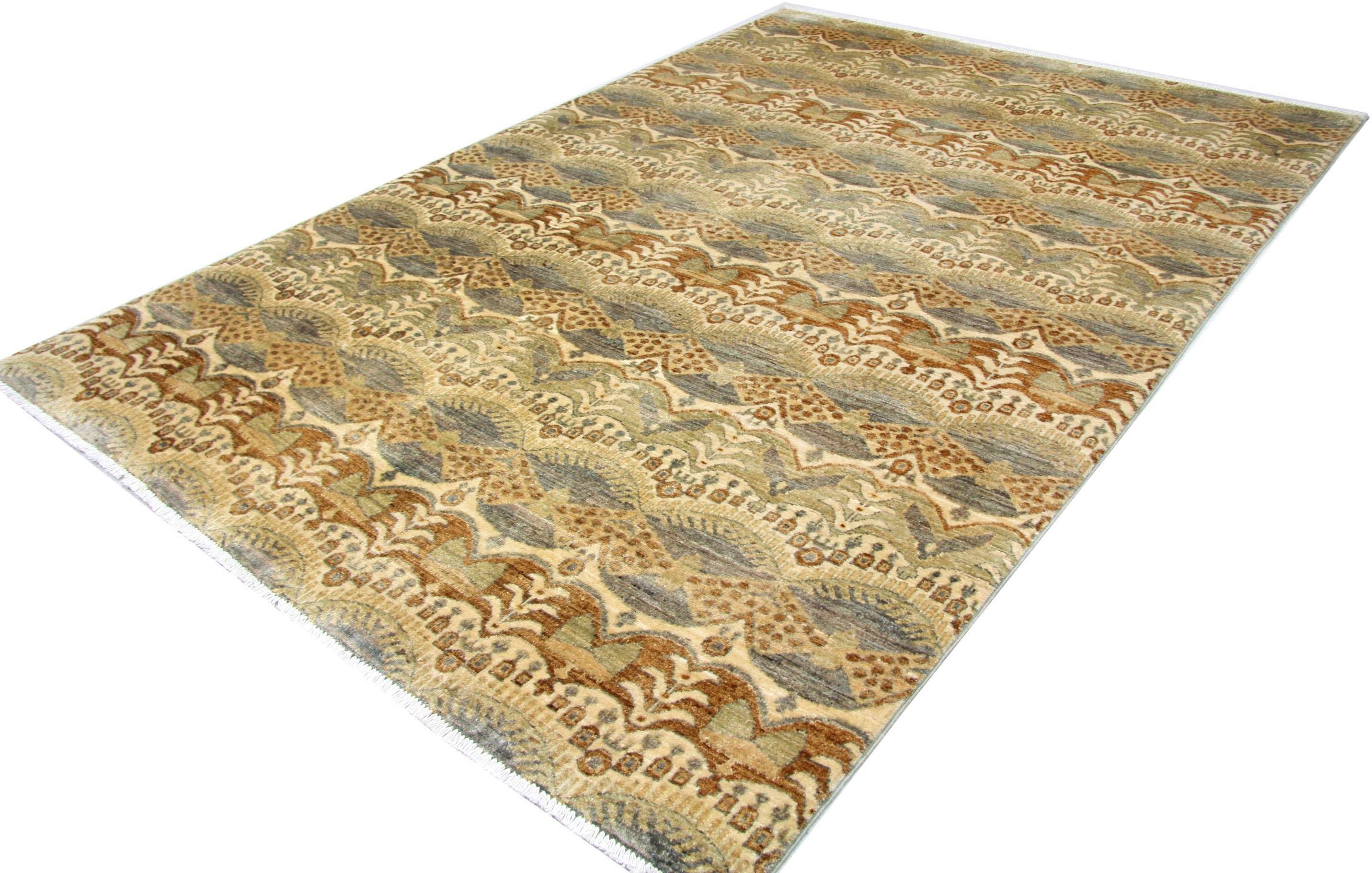 morgenland wollen kleed Ziegler Teppich handgeknüpft braun nu online kopen bij OTTO