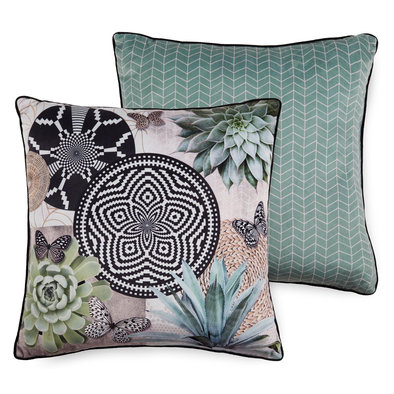Hip Kussen Gevuld 48 X 48 Cm Polyester Donkergroen online kopen
