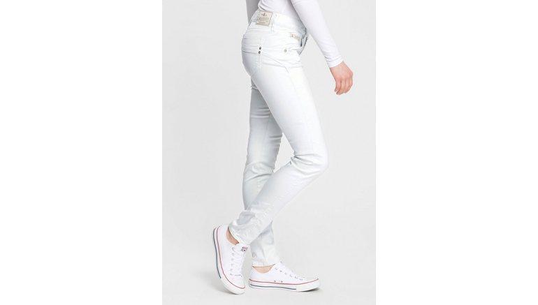 Herrlicher slim fit jeans TOUCH SLIM SATIN Powerstretch van satijn