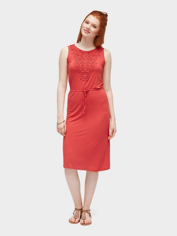 Tom Tailor zomerjurk jurk met haakdetails rood