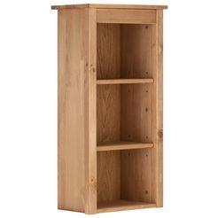 home affaire wandrek westa breedte 34 cm, badkamerkast van massief hout, grenenhout, metalen grepen, 3 open vakken, 2 losse planken beige
