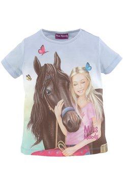 miss melody t-shirt met mooi paardenmotief blauw