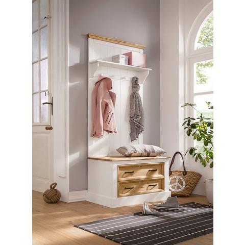 Home affaire compact garderobemeubel Selma, met hoedenplank, houten haken en 2 laden, br. 80 cm