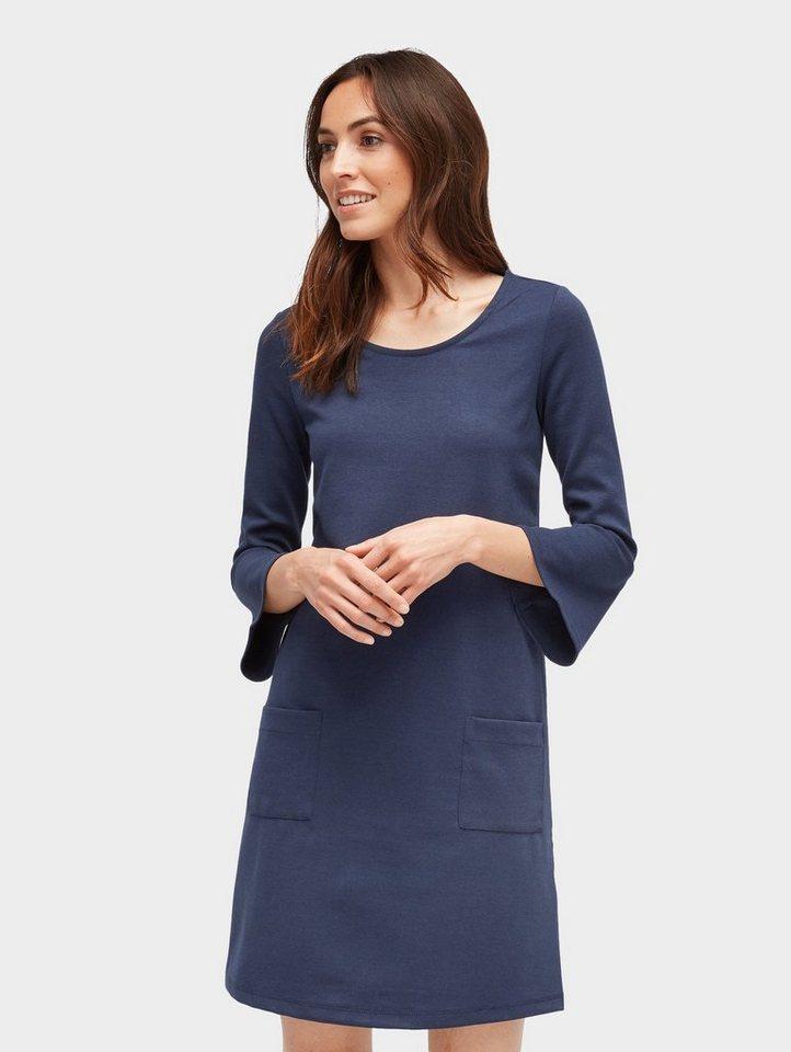 Tom Tailor jerseyjurk jurk met volantmouwen blauw