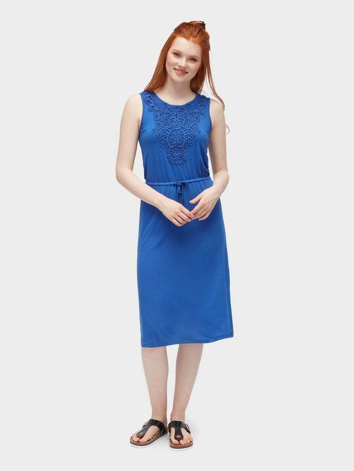 Tom Tailor zomerjurk jurk met haakdetails blauw