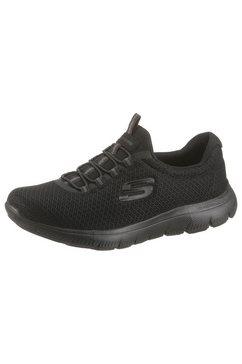 skechers slip-on sneakers summits met elastiek zwart