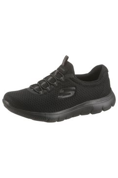 skechers slip-on sneakers »summits« zwart