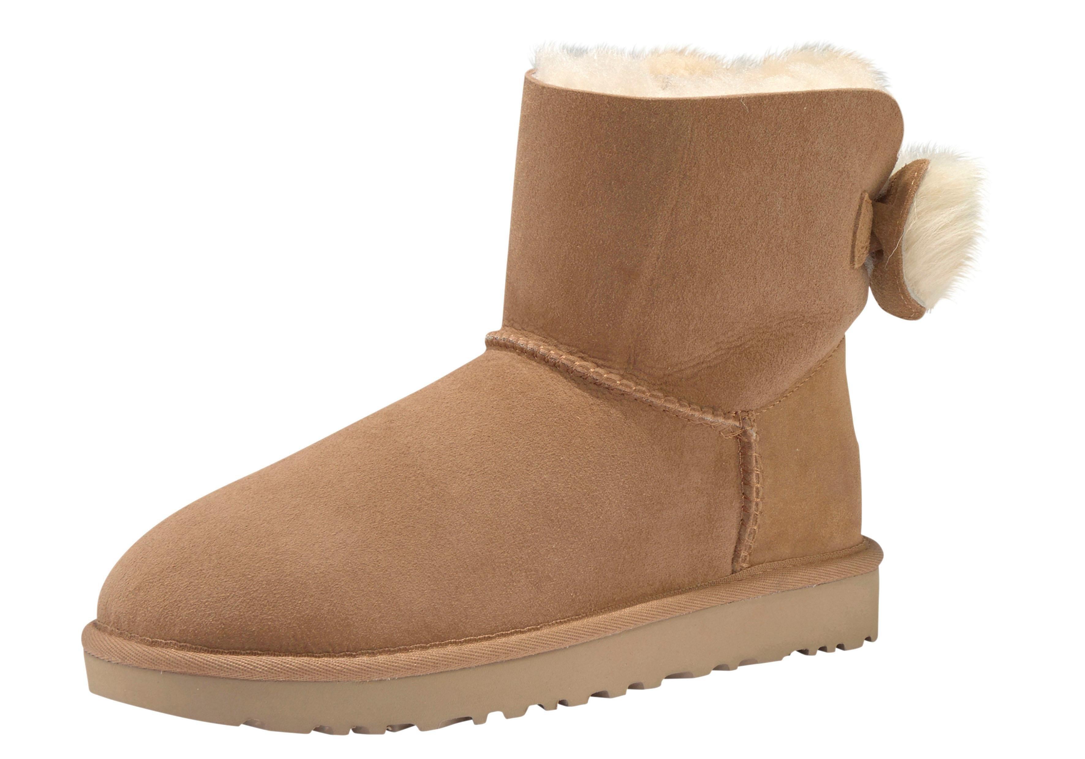 Ugg laarzen zonder sluiting »Fluff Bow Mini« voordelig en veilig online kopen