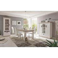 premium collection by home affaire eettafel florence breedte 160 cm. wit