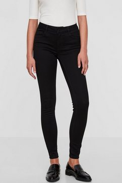 vero moda stretch jeans »seven shape up« zwart