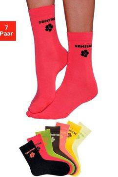 h.i.s sokken voor kinderen met bloemmotief (7 paar) multicolor