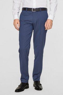 s.oliver black label slim: elastische kostuumbroek blauw