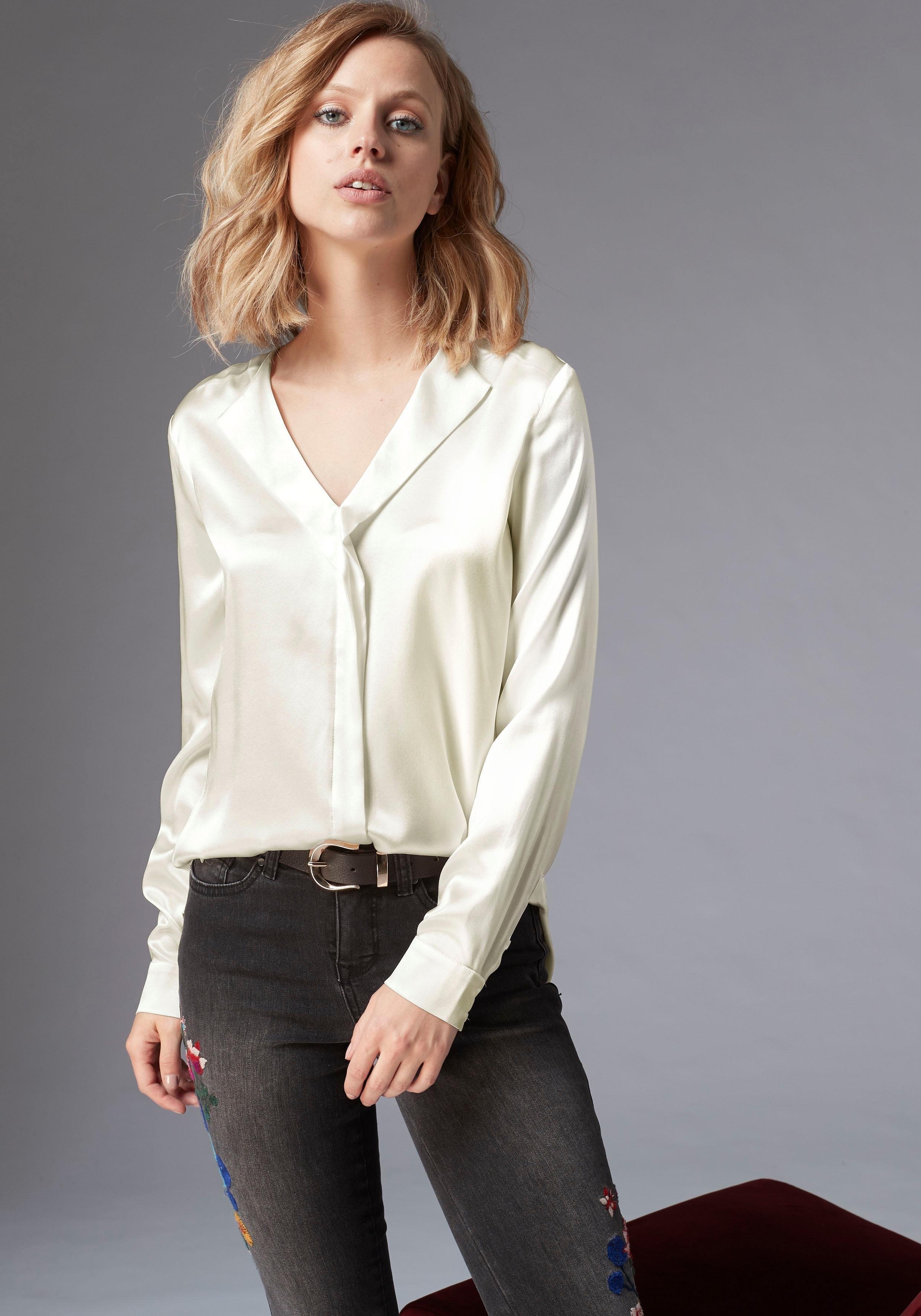 Guido Maria Kretschmer zijden blouse nu online bestellen