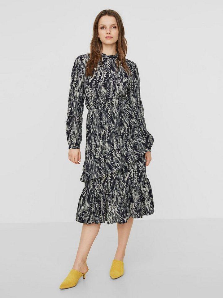 Vero Moda Aware jurk met lange mouwen multicolor