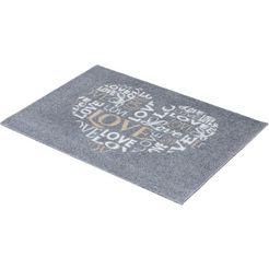 mat, »felicido 802«, astra, rechthoekig, hoogte 6 mm, machinaal getuft grijs