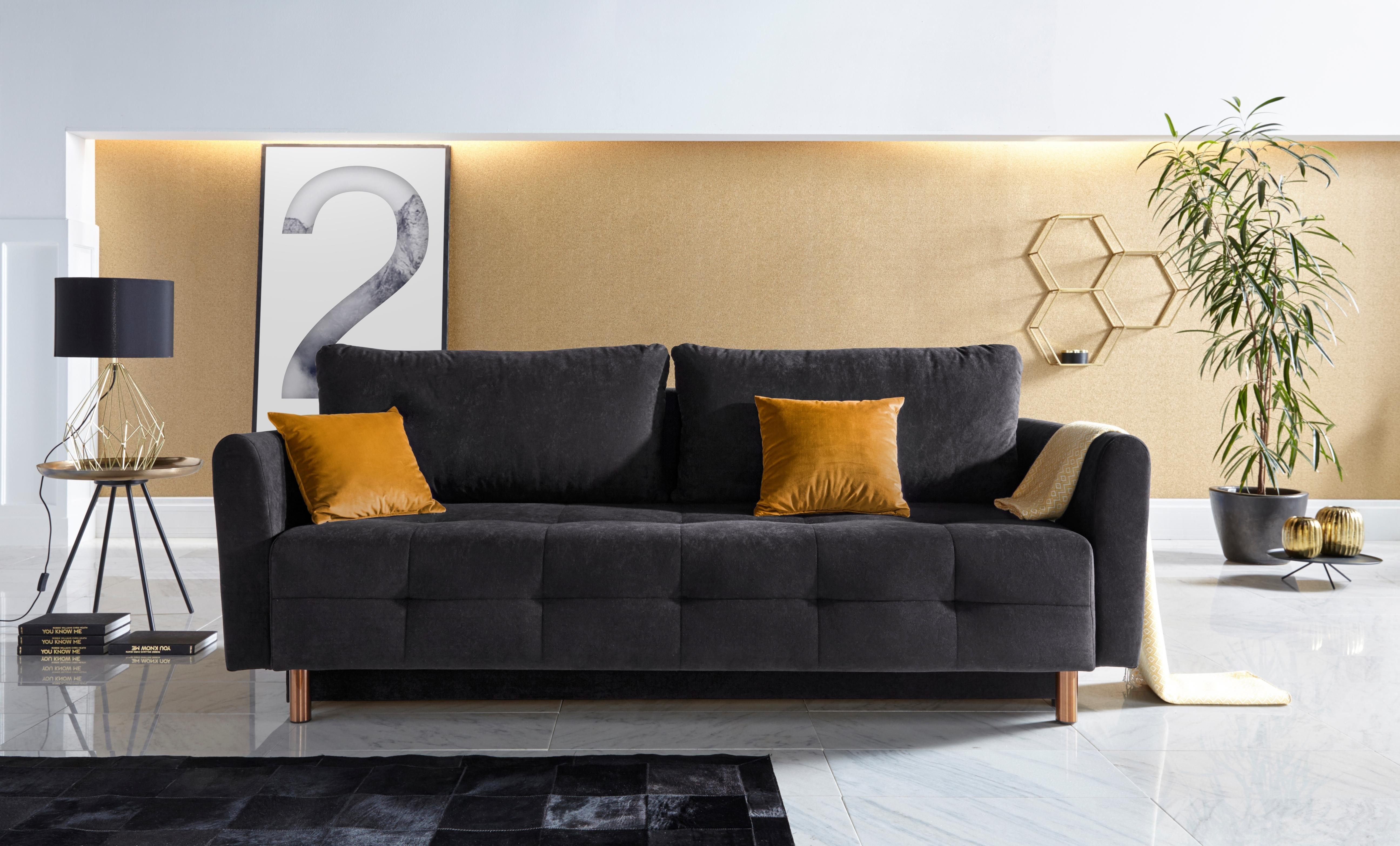 INOSIGN bedbank Nordic metallic met binnenvering en metalen poten, stiksels op de zitting goedkoop op otto.nl kopen