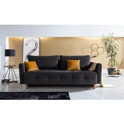 inosign bedbank »nordic metallic« zwart